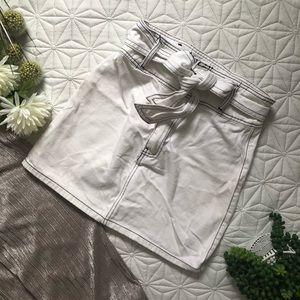 F21 White Denim Skirt